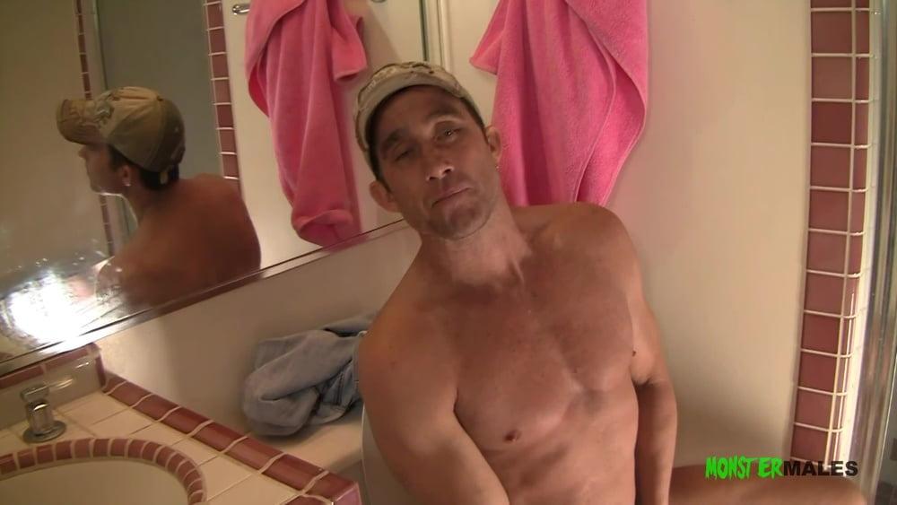 Blonde Alana sucks on Billys big dick in the restroom - 10 Pics