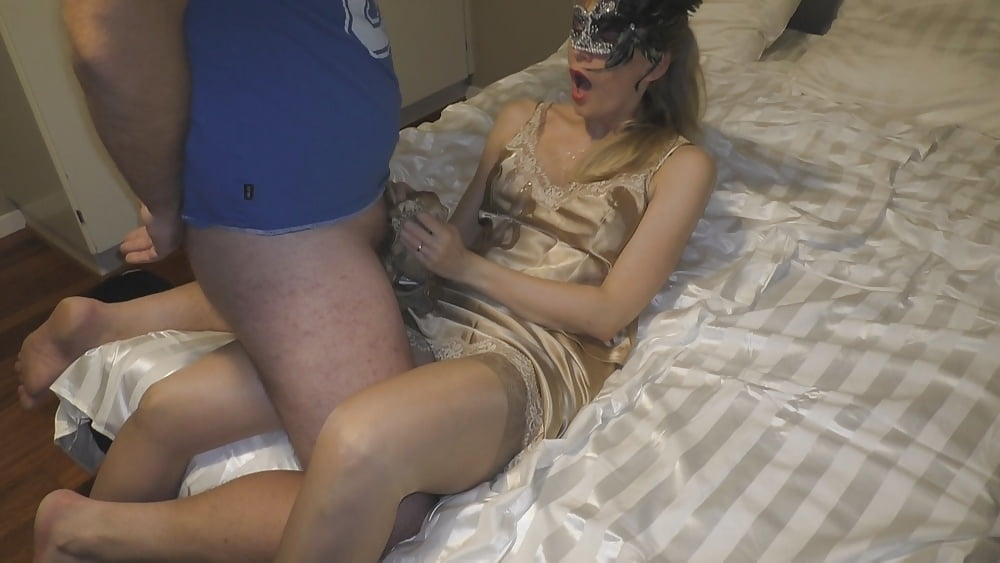 Girl in satin fucked by girl 14