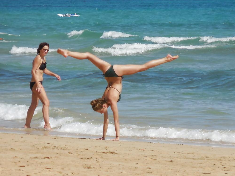 Gymnast in bikini