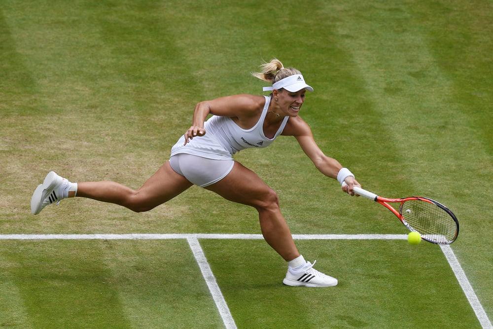 Upskirt kerber Tennis Pro