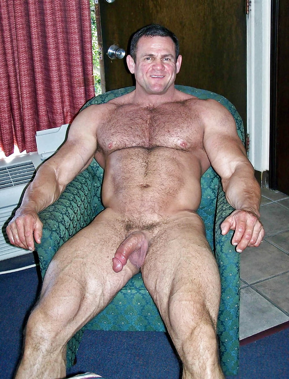 Nude Muscular Hairy Men With Big Hard Cocks