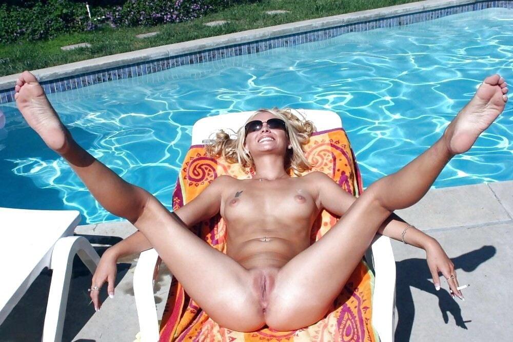 Sexy Leg Spread Nude Beach