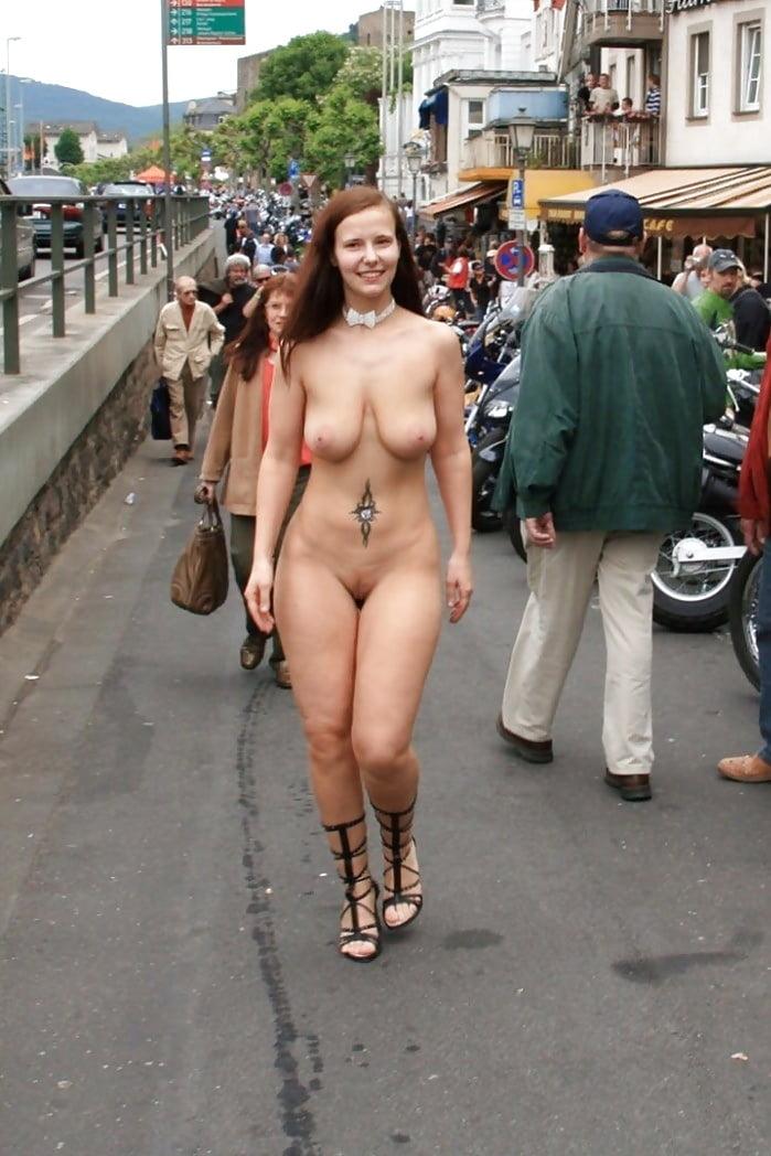 Milf sripped nude in public — photo 7