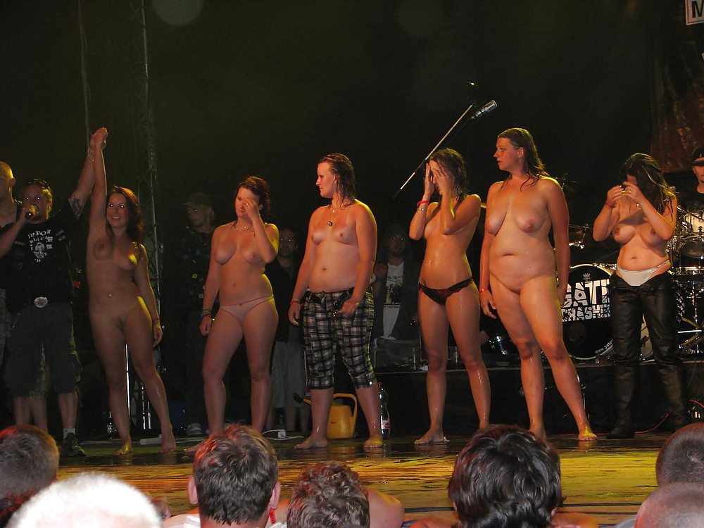 Group Of Girls Strip Dance On Stage