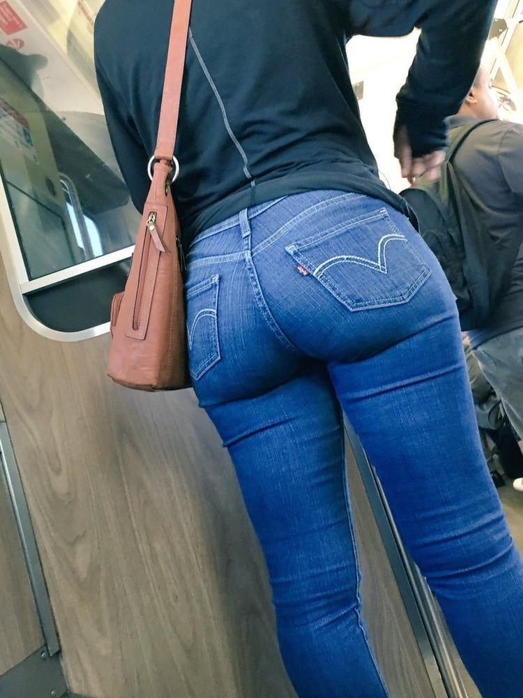Sexy Blonde In Skin Tight Blue Jeans Get Ass Fucking