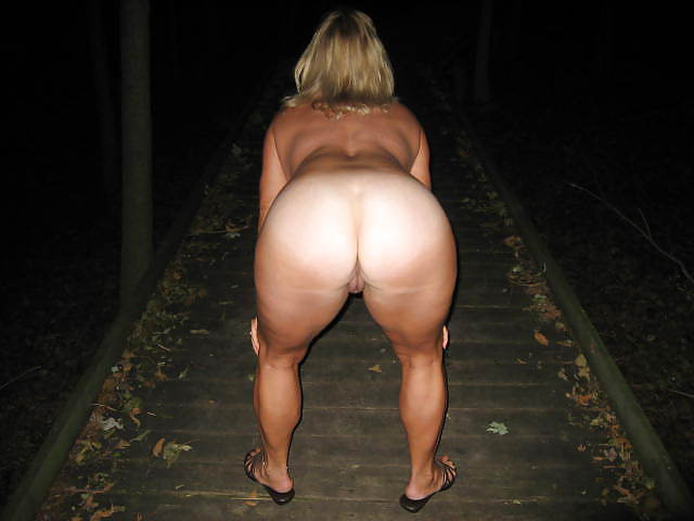 My naked wife goes outside