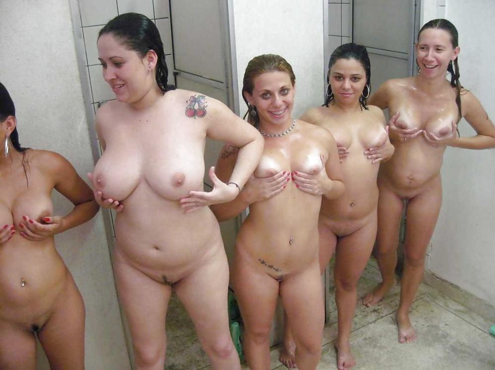 Group shower porn