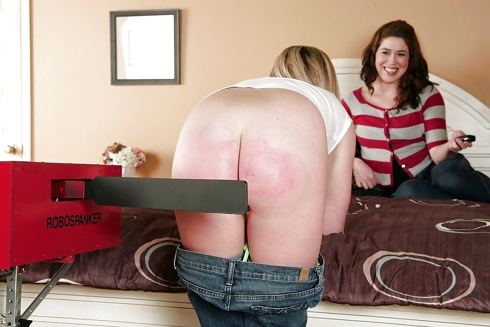 Women spank girls