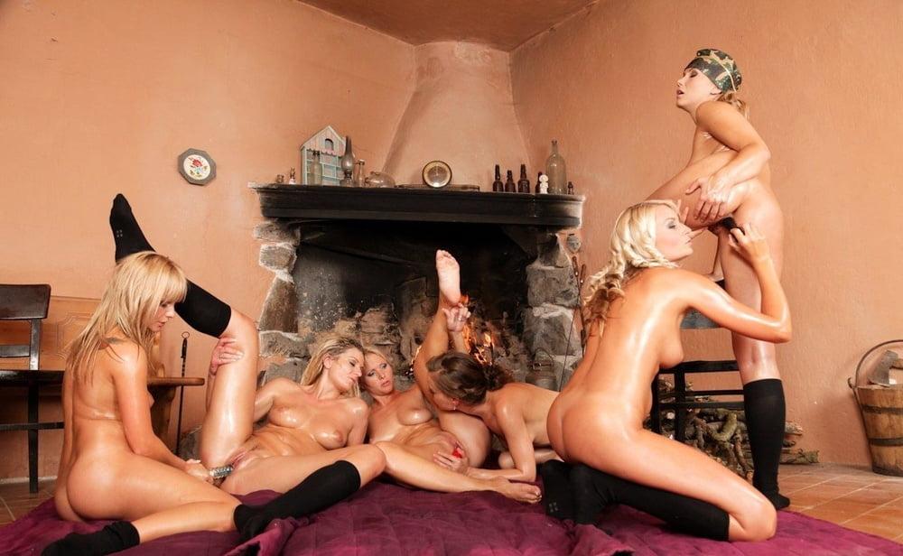 Lesbian group humiliation
