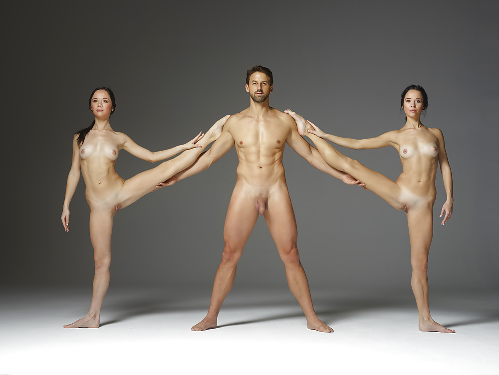 Perfect nude male and female bodies together