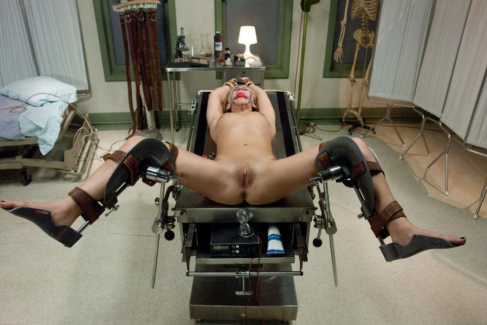 Doctor fucks patient in stirrups