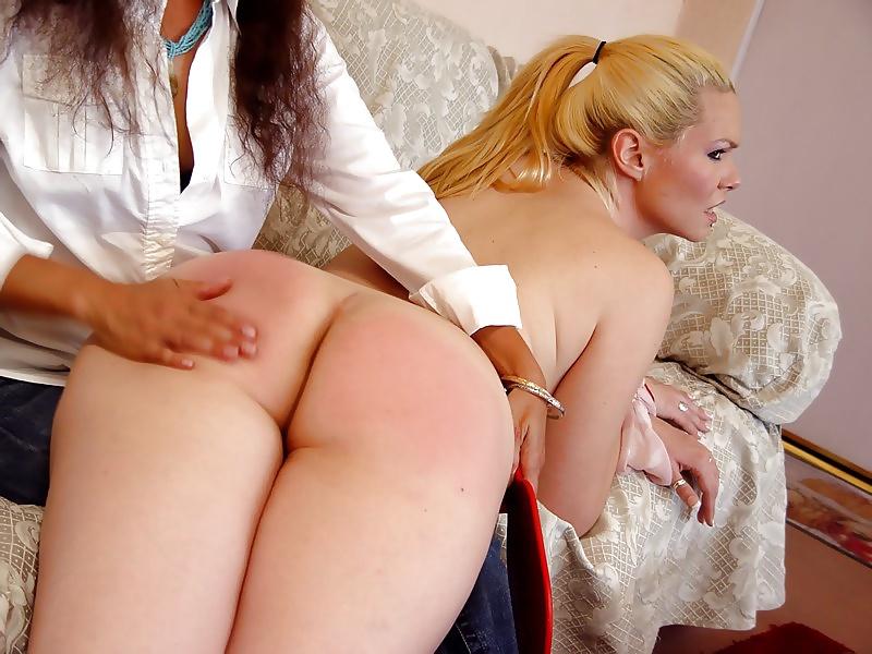 Best lesbian spanking images