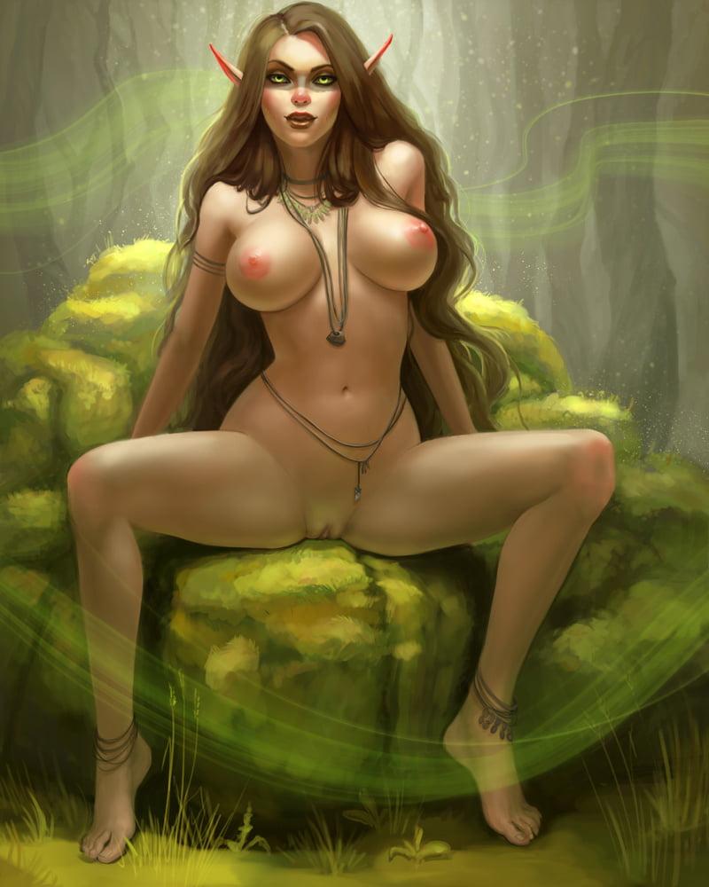 Sexy nude elf female