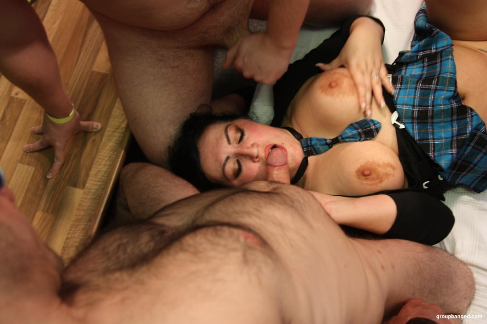 Multiple Cocks in One Hole at GroupBanged - 13 Pics