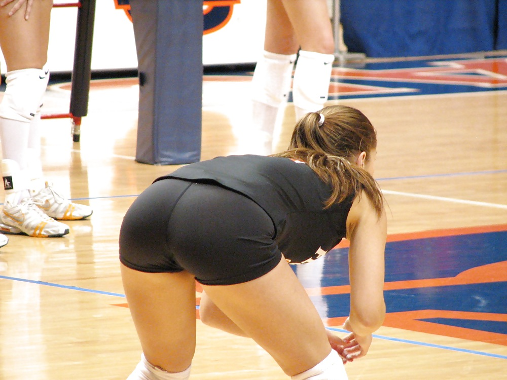 College Girl Volleyball Butts