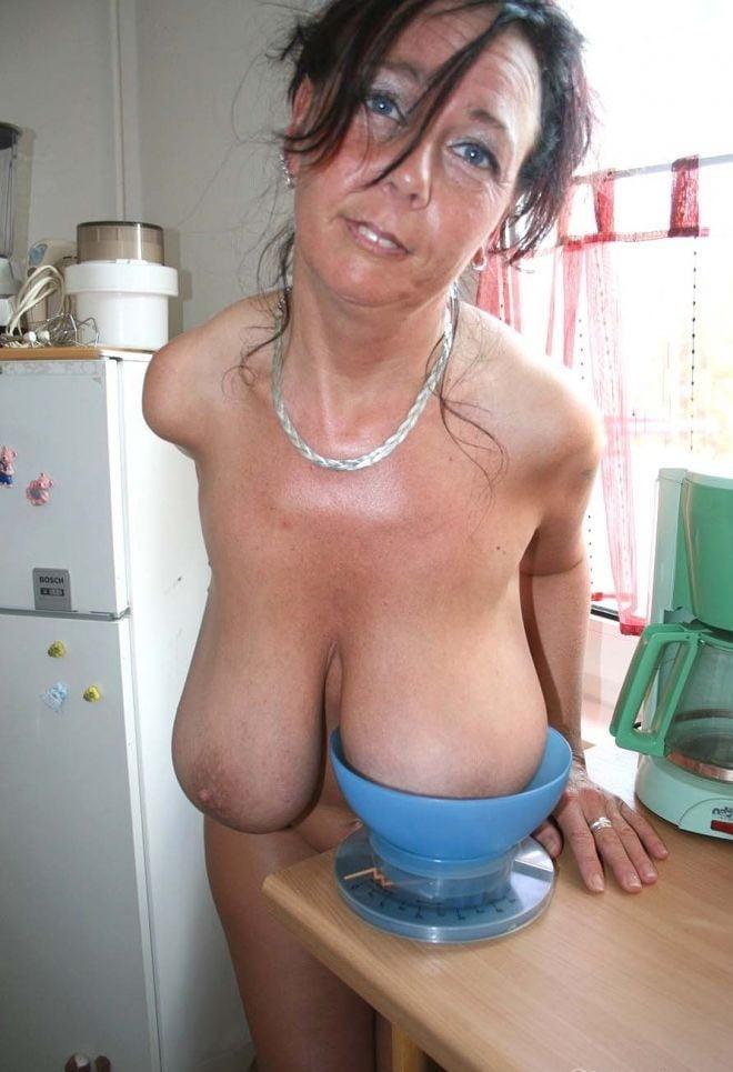 Beautiful Mature Saggy Breasts