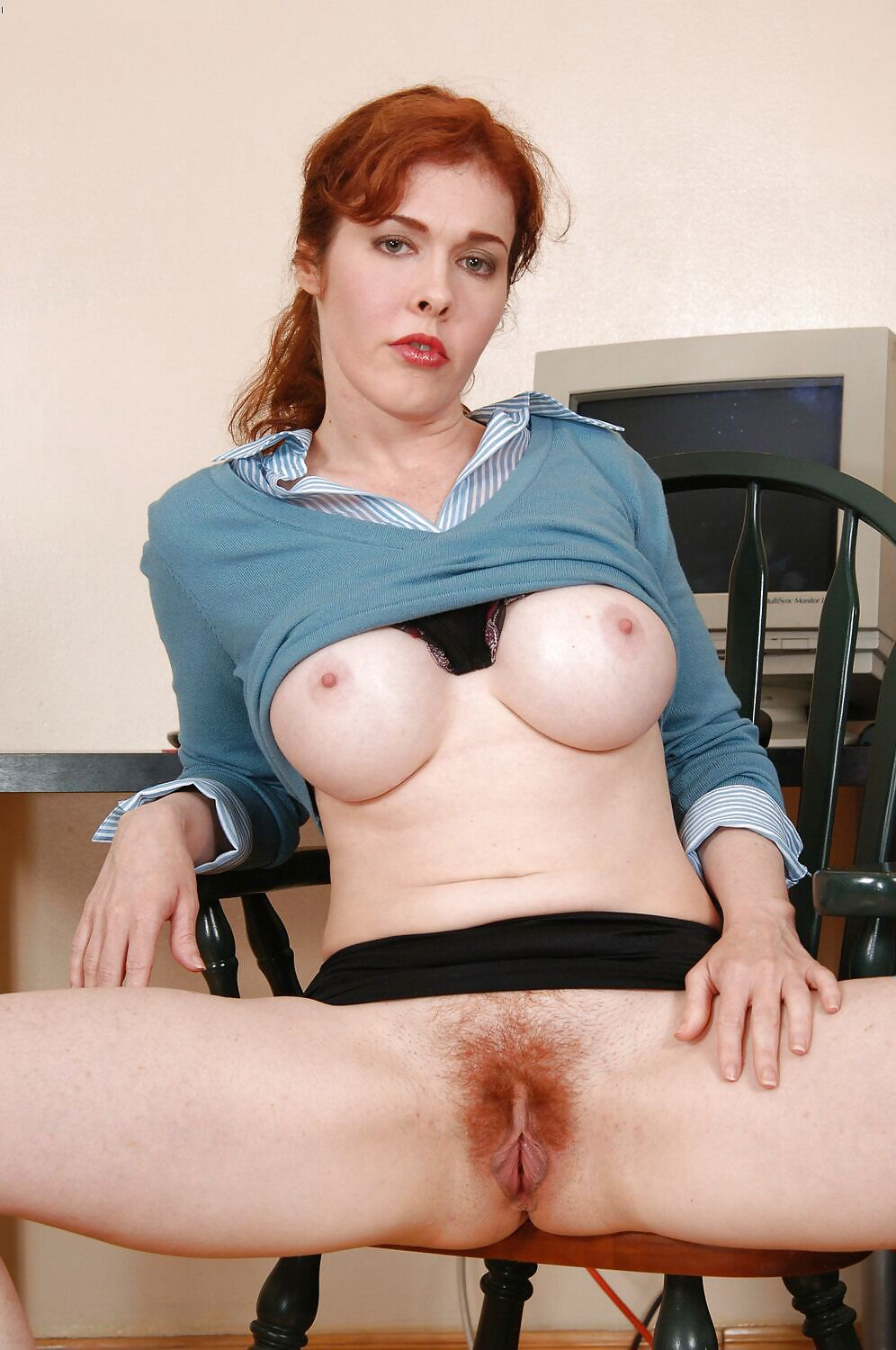 Redhead milfs with hairy pussy