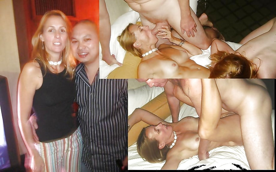 Swinger wife group sex party