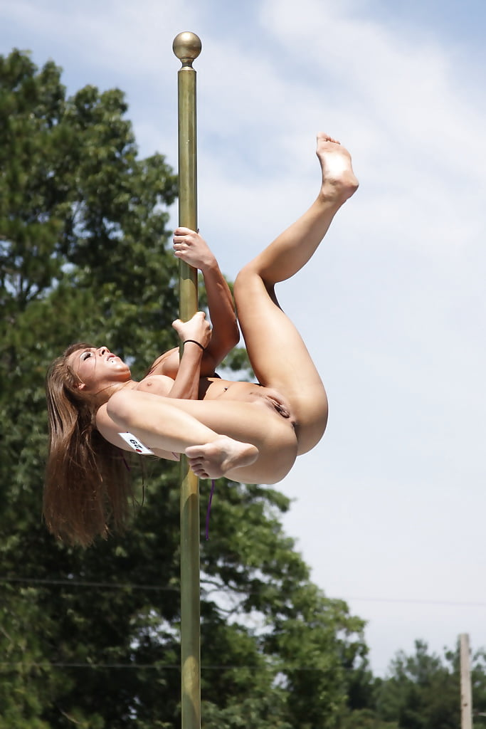 Naked girl with pole inside her 13
