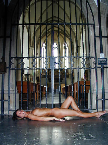 Girl naked church