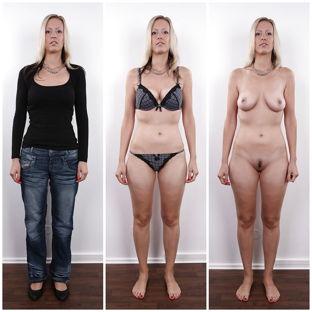 Group before and after nude hunter
