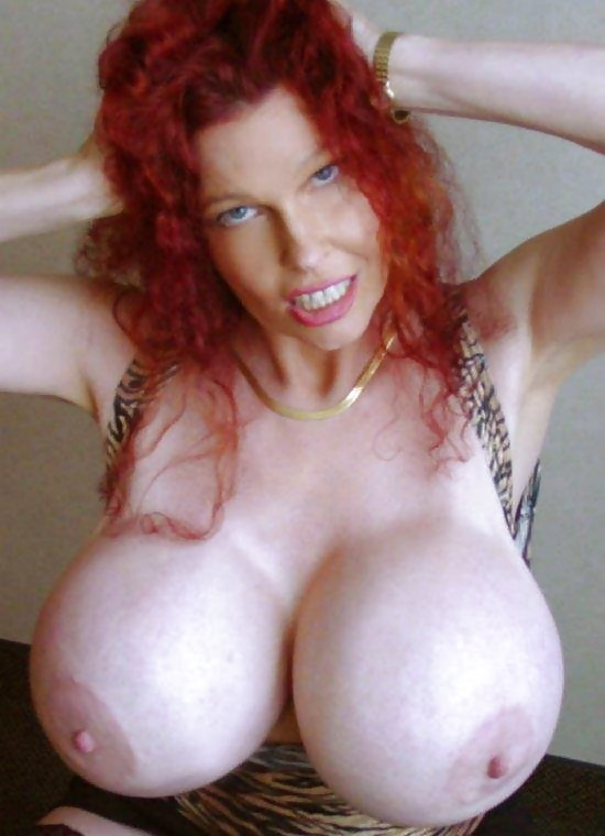 teddi barrett shows her monster boobs and pink pussy