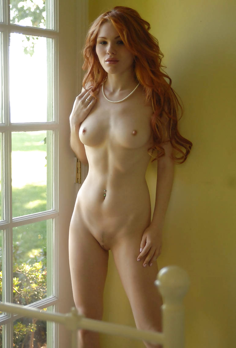 Naked Teen With The Perfect Body And Red Hair Flashing