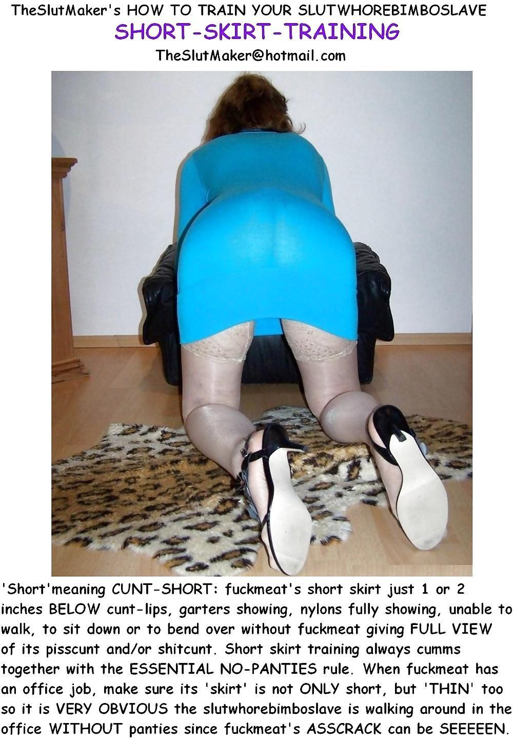 Hot secretary short skirt
