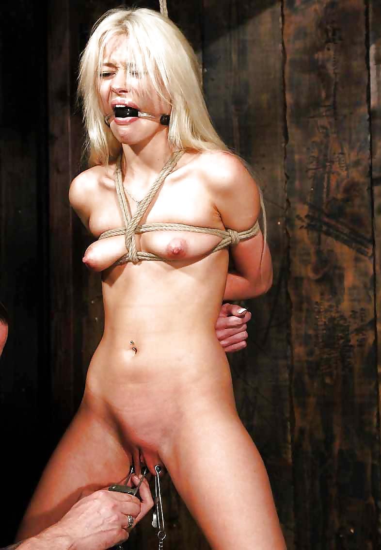 Breast bondage for small tits