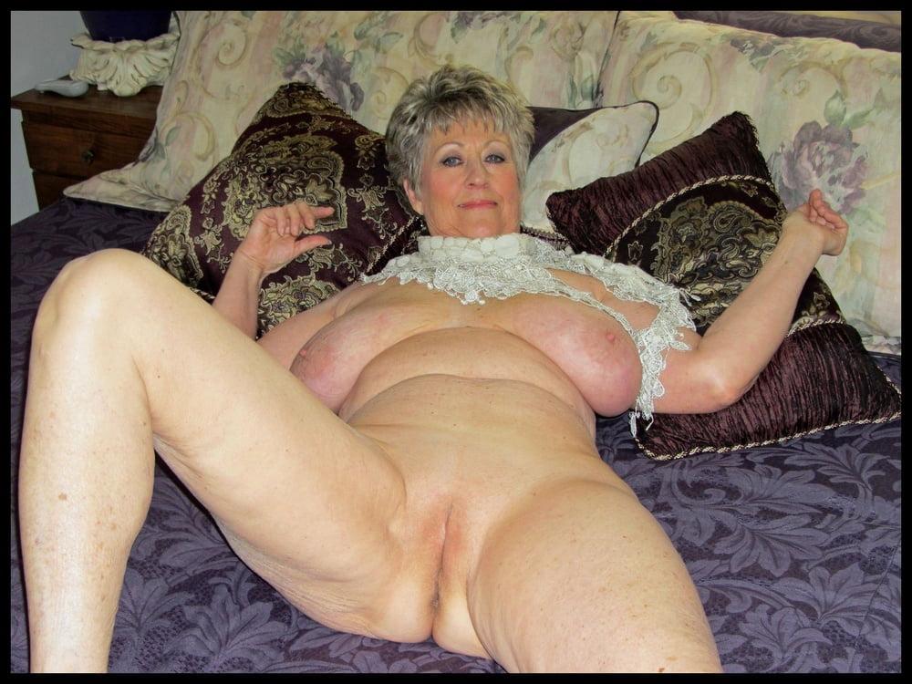 Excited mature granny image photo