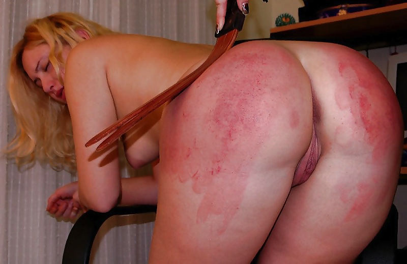 Erotic naked spanking pleasure and pain