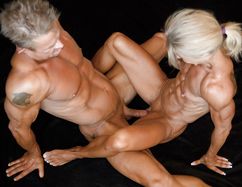 Nude Female Bodybuilders With Iron Bodies Do Their Workouts
