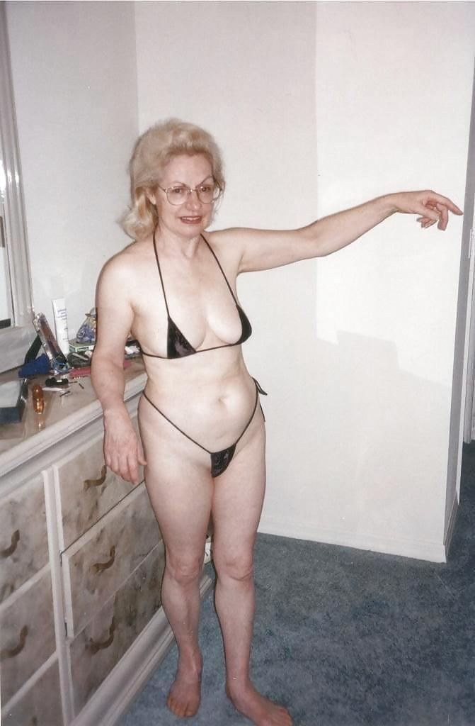 bikini pics lady Old