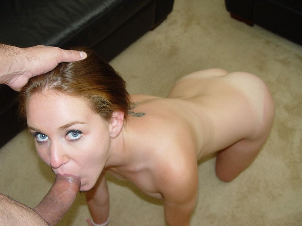 Sexy blonde whore loves sucking dick