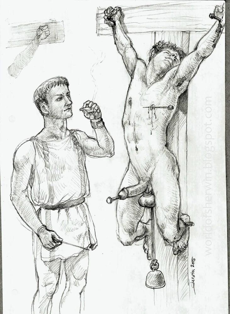 Crucifixion bdsm comics and bdsm artwork