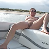 She loves to go out on the boat...