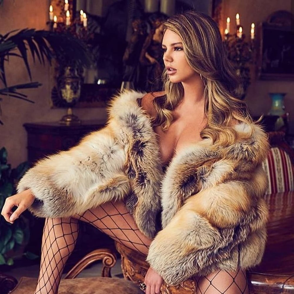 Fur jacket naked women