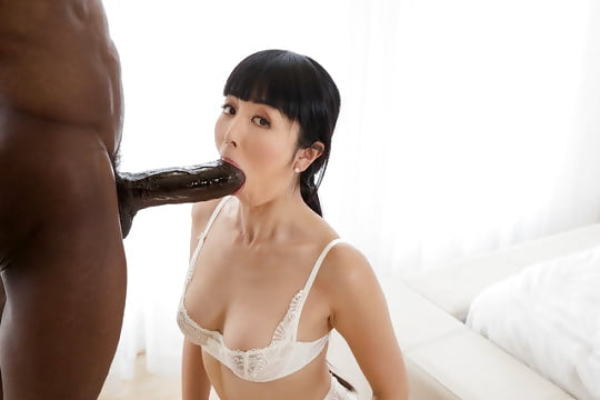 Asian chick white dick, skinny pussy back fuck