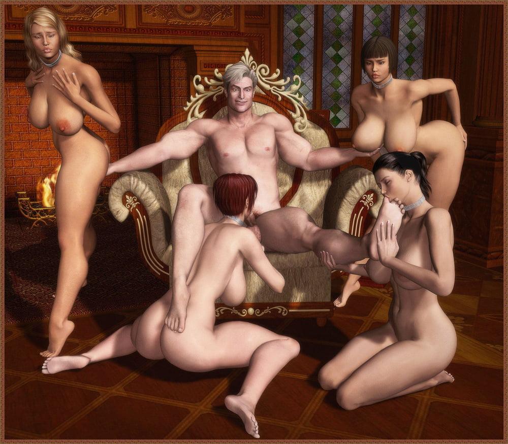 Bdsm male harem