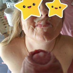 Cum On My Face And On My Leg
