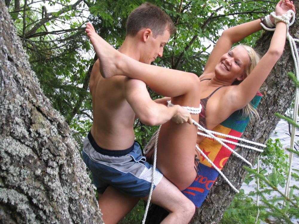 Outdoors teen BDSM - finnish finland suomipornoa - 13 Pics