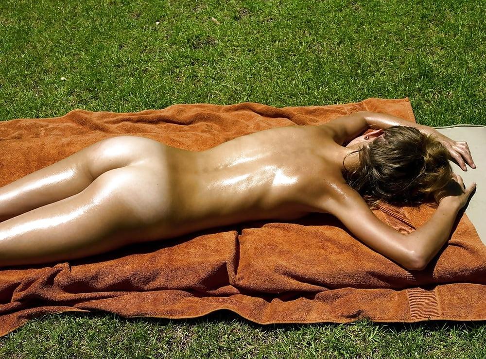 Sunbathing Girl On Nude Beach Porn Pic