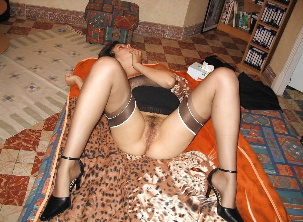 порно фото домашние женщин в чулках