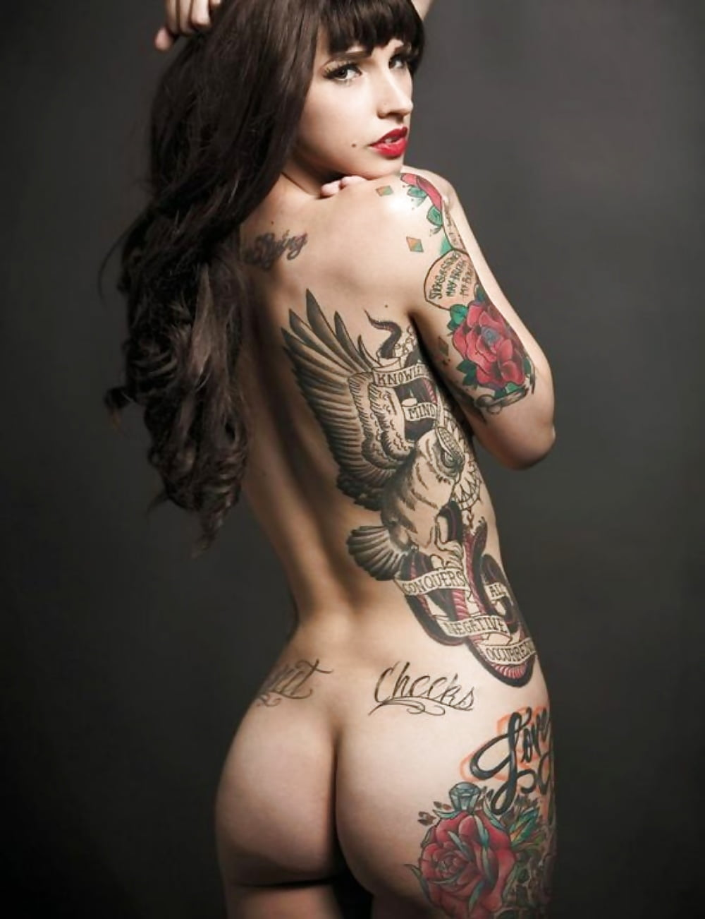 Amateur naked tattooed women
