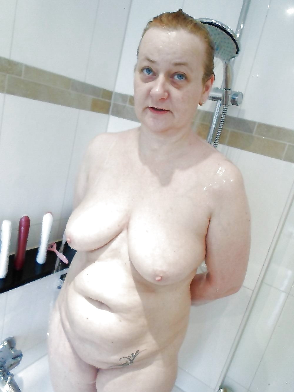Granny standing naked in shower hot ass massage