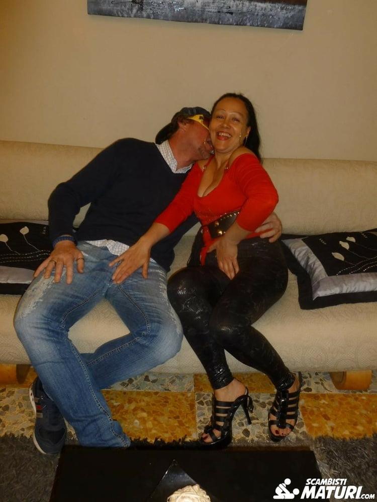 Mature Italian Woman Blowjob with New Boyfriend
