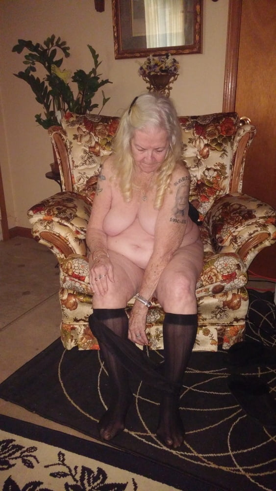 Granny Grace Aka Maw Maw Black Panties  Knee His - 15 -2555