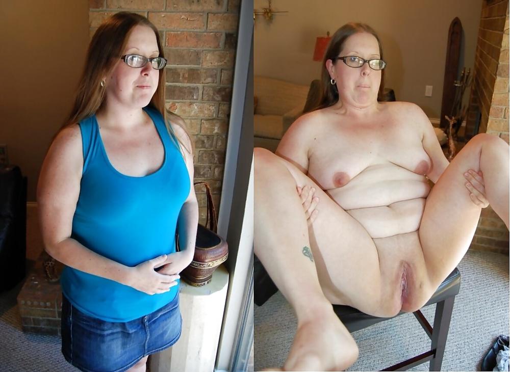 Bbw dressed undressed