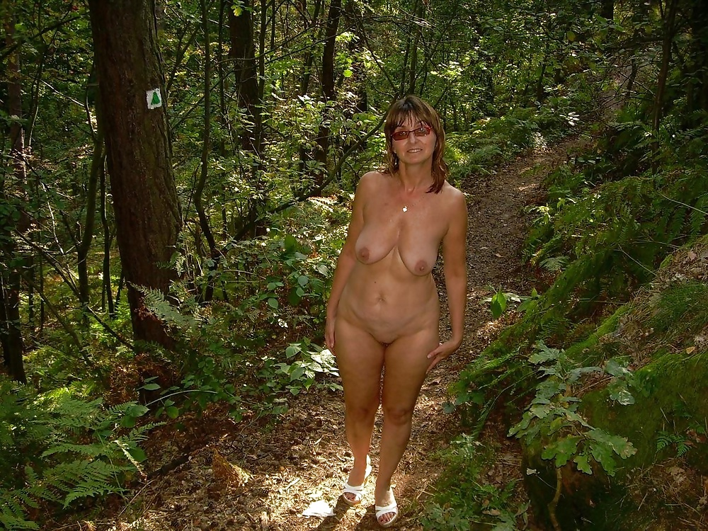 Black woman busty outdoor nude