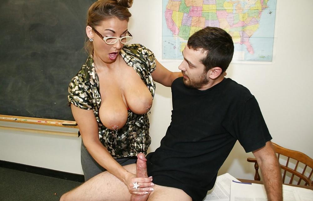 Teacher handjob pupil